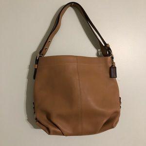 Coach slouchy leather hobo handbag